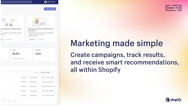 shopify marketing section