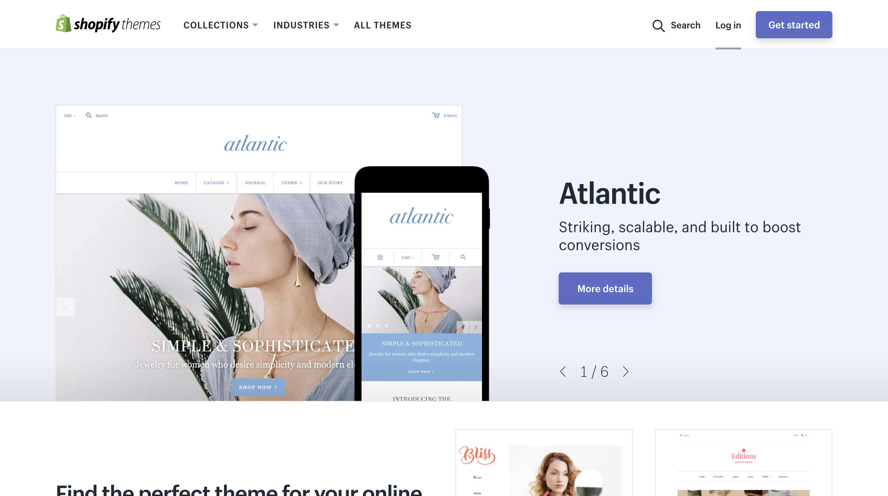 Shopify Theme Store Has Many Options