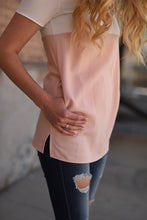 Harper Color Block Tunic - Blush