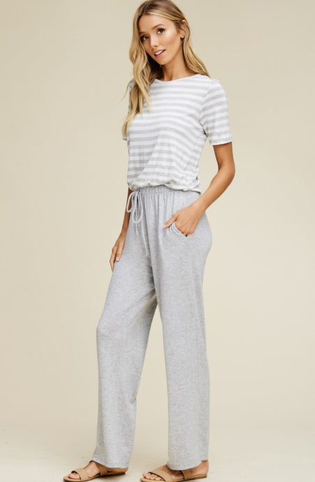 Keira Jumpsuit - Heather Gray