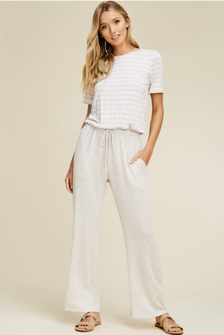 Keira Jumpsuit - Oatmeal
