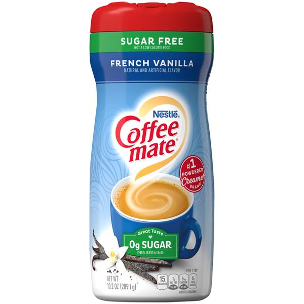 NESTLE COFFEE MATE FRENCH VANILLA 0g sugar 289.1G