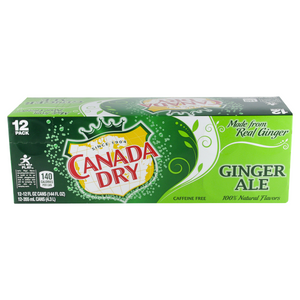 Canada Dry Ginger Ale 355ml Box of 12 pk