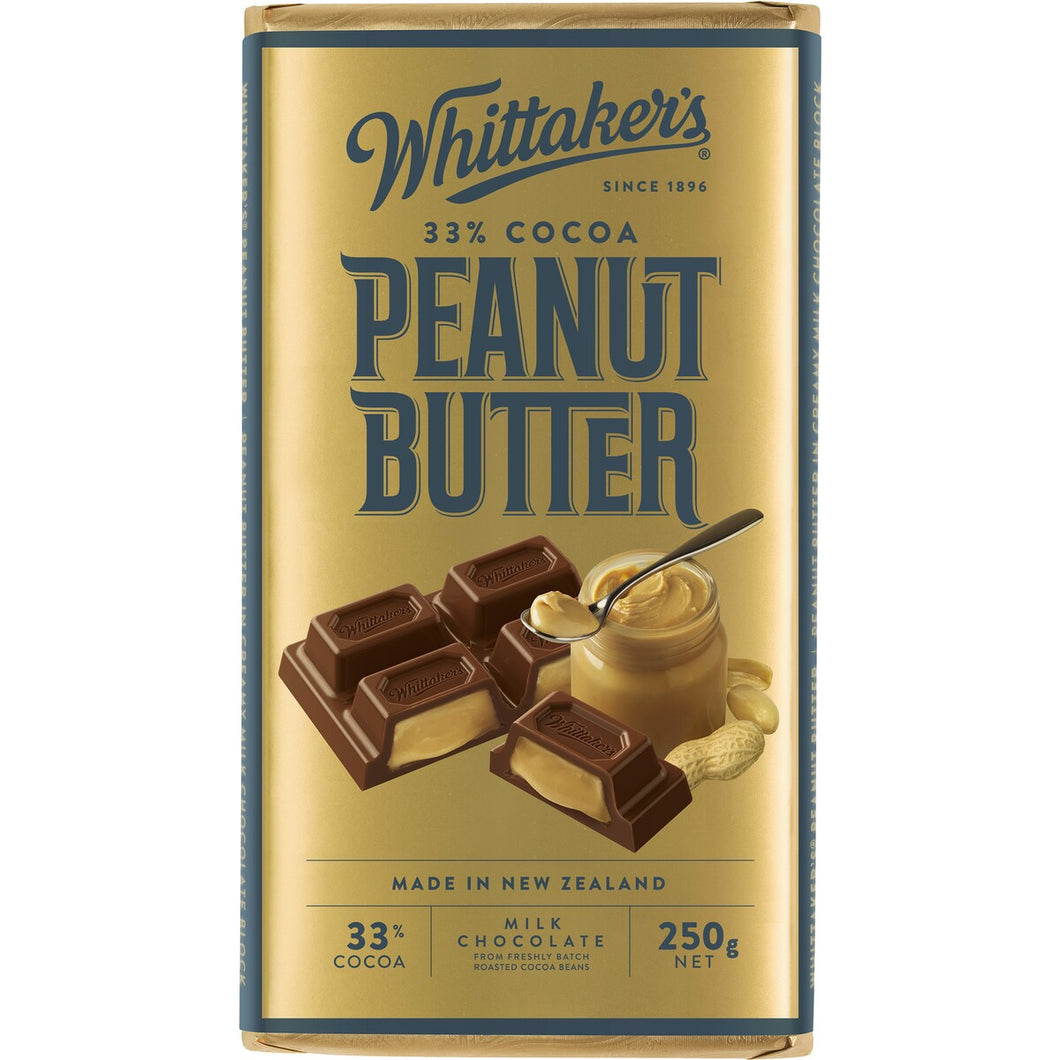 WHITTAKER'S PEANUT BUTTER MILK CHOCOLATE 250G