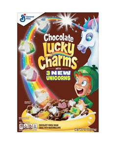 Lucky Charms Chocolate  w 3 New Unicorns Cereal  311g
