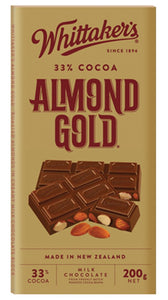 WHITTAKER'S ALMOND GOLD BLOCK 200G