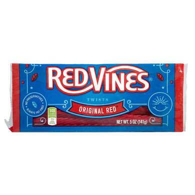 REDVINE TWISTS ORIGINAL RED 141G