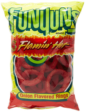 Funyuns Flamin Hot Onion Flavored Rings 34.5g