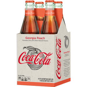 Coca Cola Georgia Peach Glass Bottle 355ml