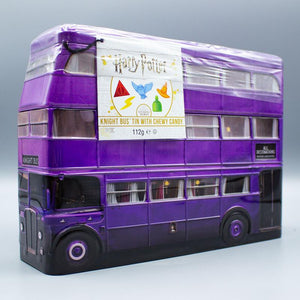 HARRY POTTER KNIGHT BUS TIN WITH CHEWY CANDY 112G