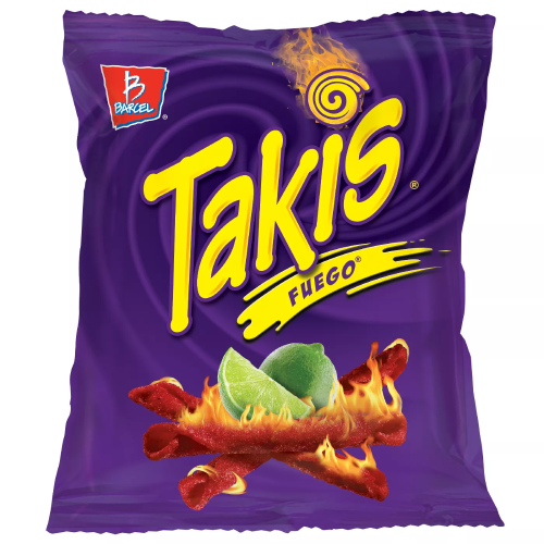 TAKIS FUEGO HOT CHILI PEPPER & LIME TORTILLA CHIPS 134.4G