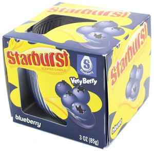 STARBURST BLUEBERRY SCENTED CANDLE 85G