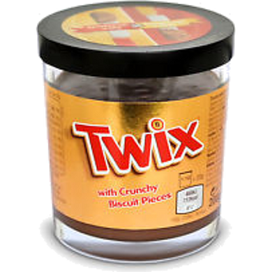 Twix with Crunchy Biscuit Pieces sprerad 200g