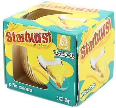STARBURST PINA COLADO SCENTED CANDLE 85G