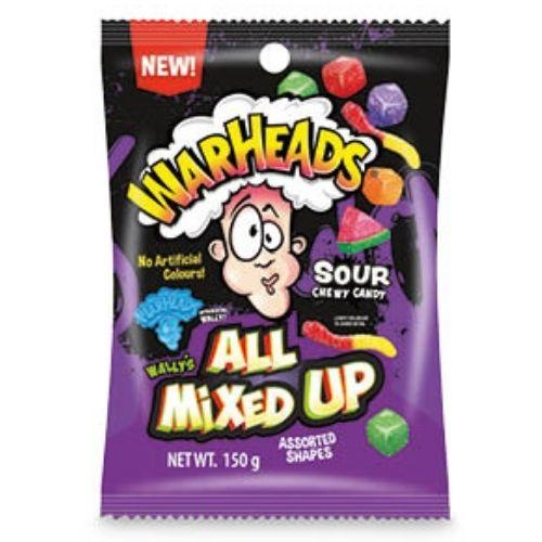 WARHEADS ALL MIXED UP SOUR CHEWY CANDY 150G