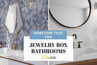 Create a Jewelry Box Bathroom with Gemstone Tiles