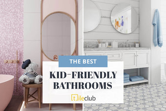 Kid's Bathroom Design Ideas with Tile to Grow Into