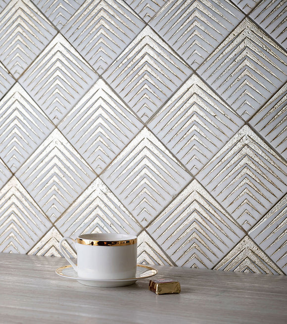 Golden Arrow Marble Mosaic Tile