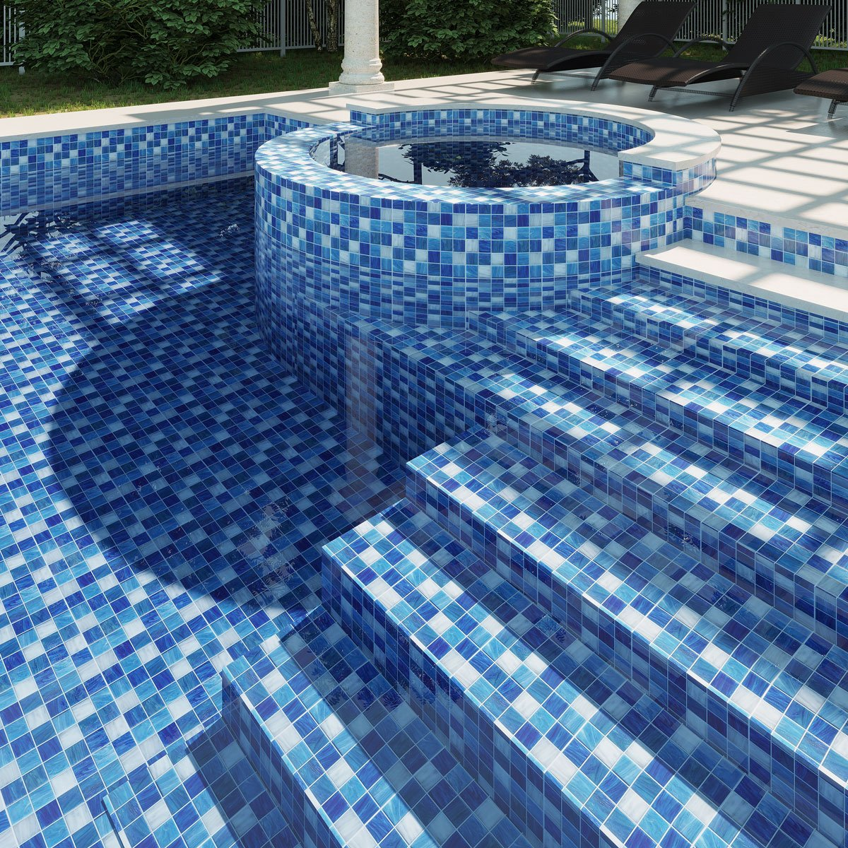 Unique Swimming Pool Tiles Glass Mosaic And More