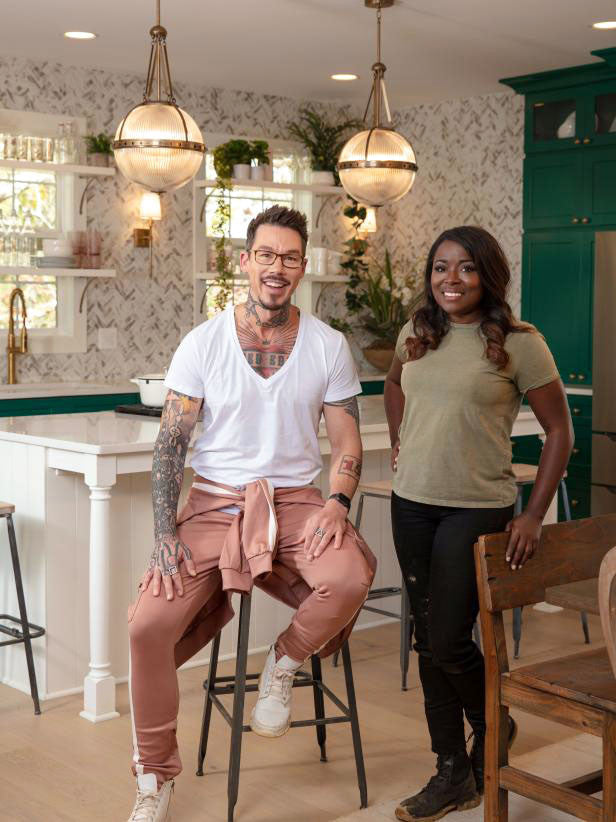 Tile Club on HGTV Rock the Block with Celebrity Designers Tiffany Brooks and David Bromstad