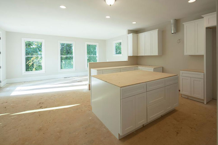 BEFORE KITCHEN - HGTV Designers were asked to transform this new build kitchen to add the most value