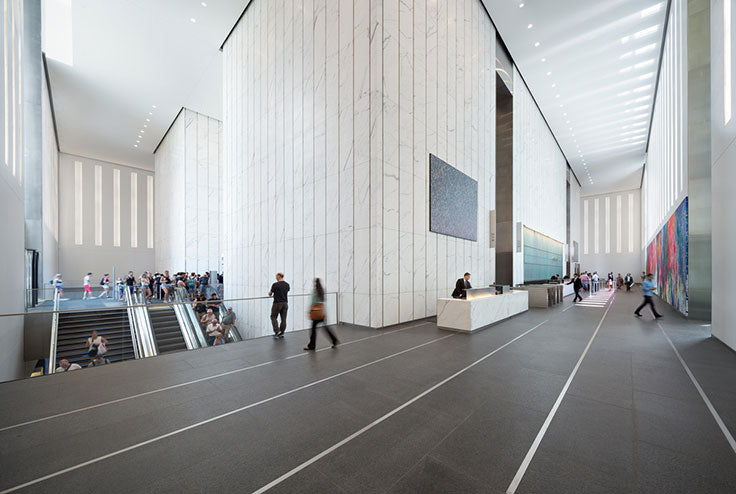 Carrara Marble is Prized for Commercial Designs including the Lobby of the World Trade Center