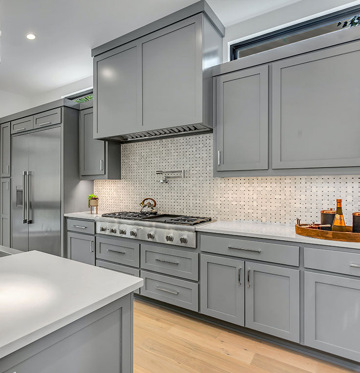 Pantone Color of the Year 2021 Kitchen Design Trends with Ultimate Gray Cabinet Paint