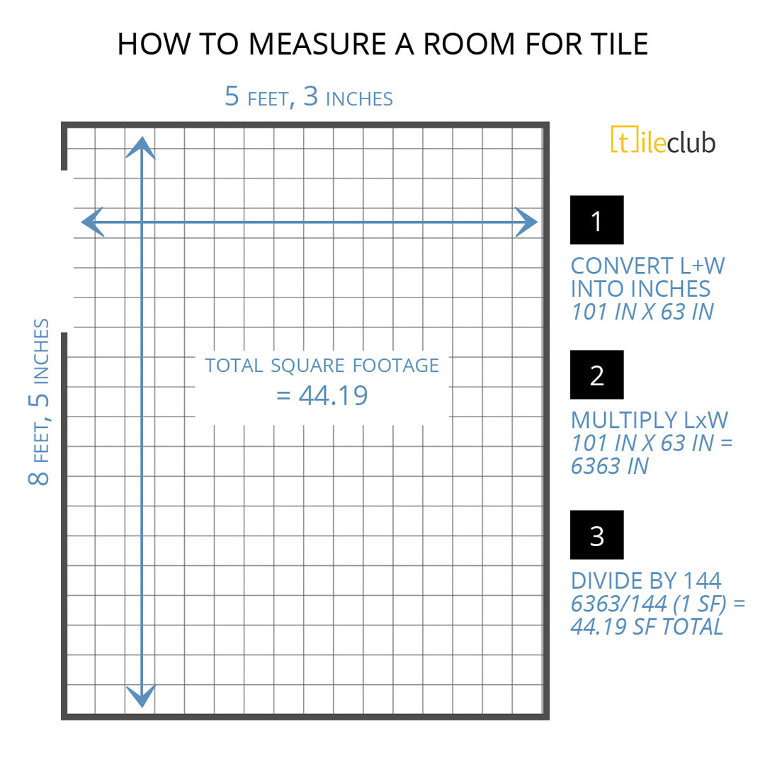 How to Measure a Room for Tile Installment - Finding your Square Footage Totals