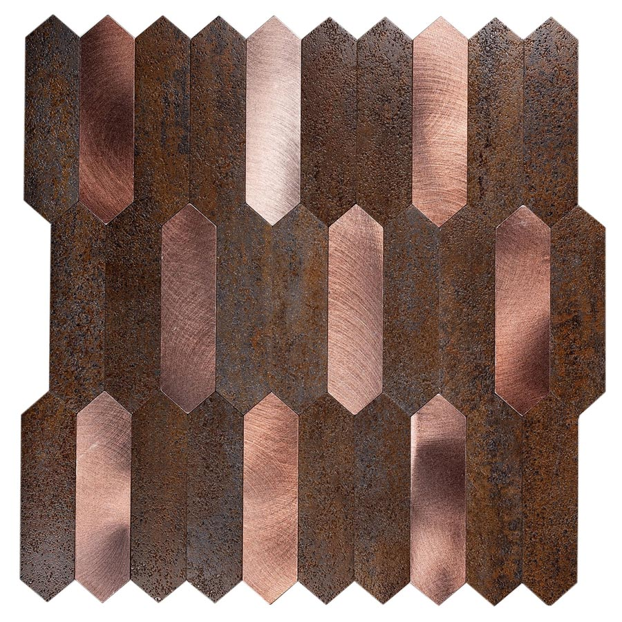 Copper Picket Peel and Stick Tile