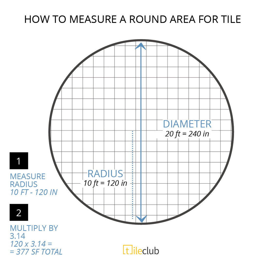 How to Measure a Round Room for Tile Installment - Find the Radius