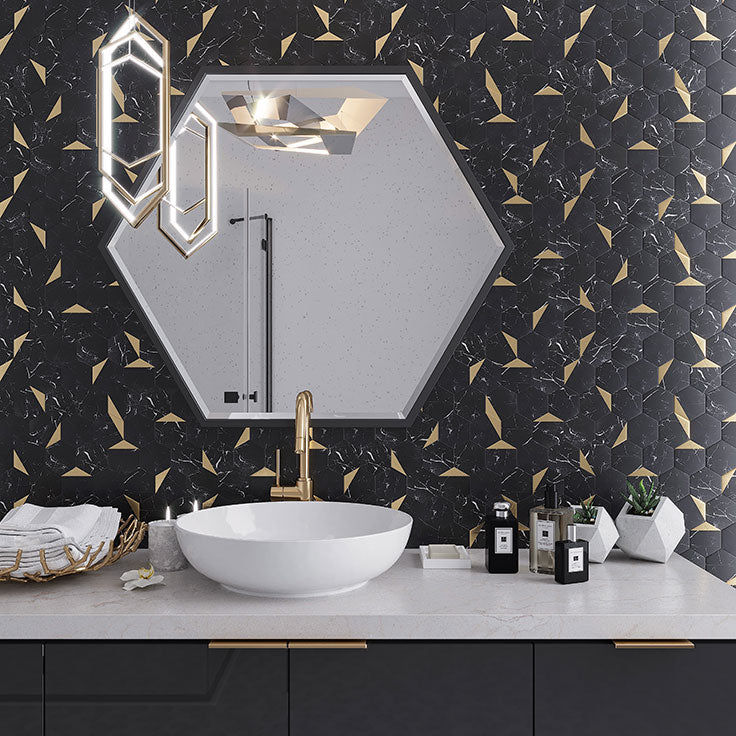 Geometric Vanity Mirror Resource Guide for a Fresh Bathroom Makeover
