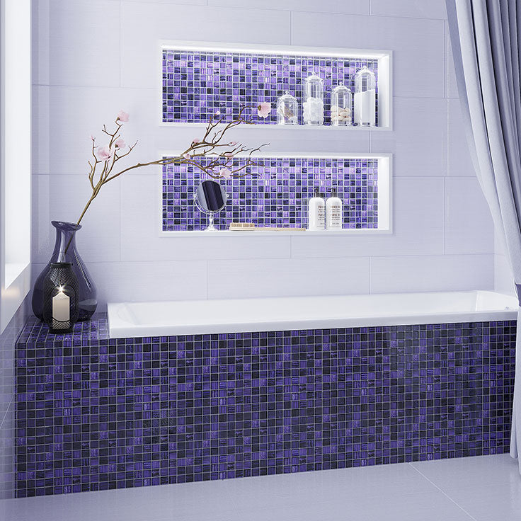 Amethyst Purple Glass Tiles for a Bathroom fit for a Queen