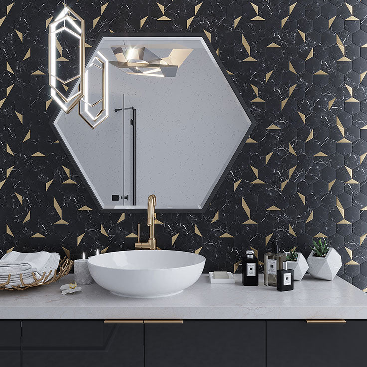 The Top Bathroom Tile Trends for 2021 - From Black Marble and Gold to Bold Ceramic Subway Tile