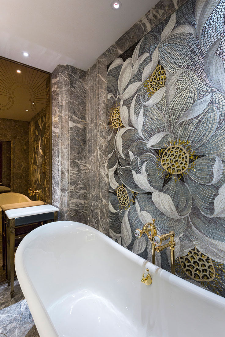 Whether you love hand painted or ombre tile designs, you can create a custom look in your kitchen or bathroom