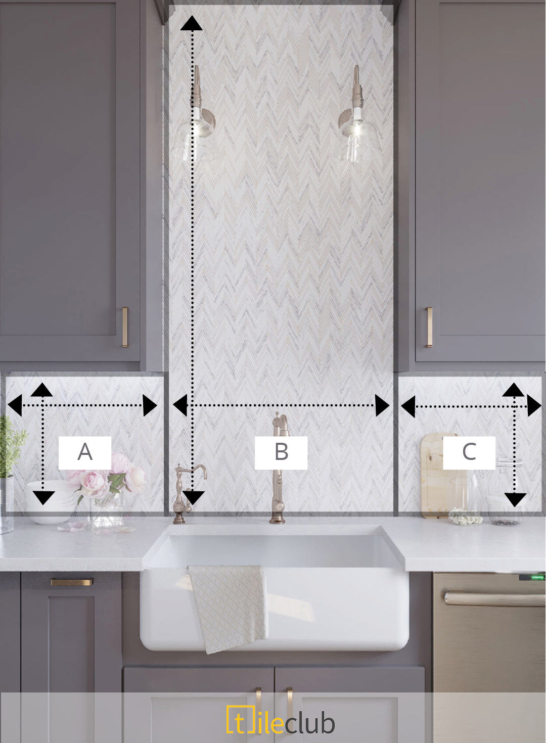 How to Calculate How Much Tile you Need to Order for a Kitchen Backsplash with Cabinets and Appliances