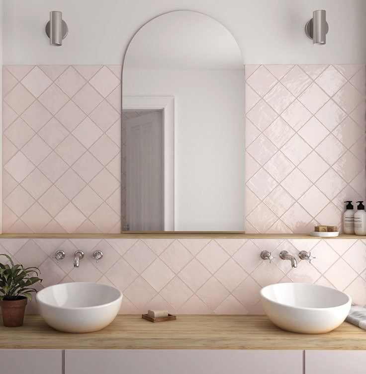 2021 Bathroom Trends - Think Pink for Ceramic Tiles in Blush