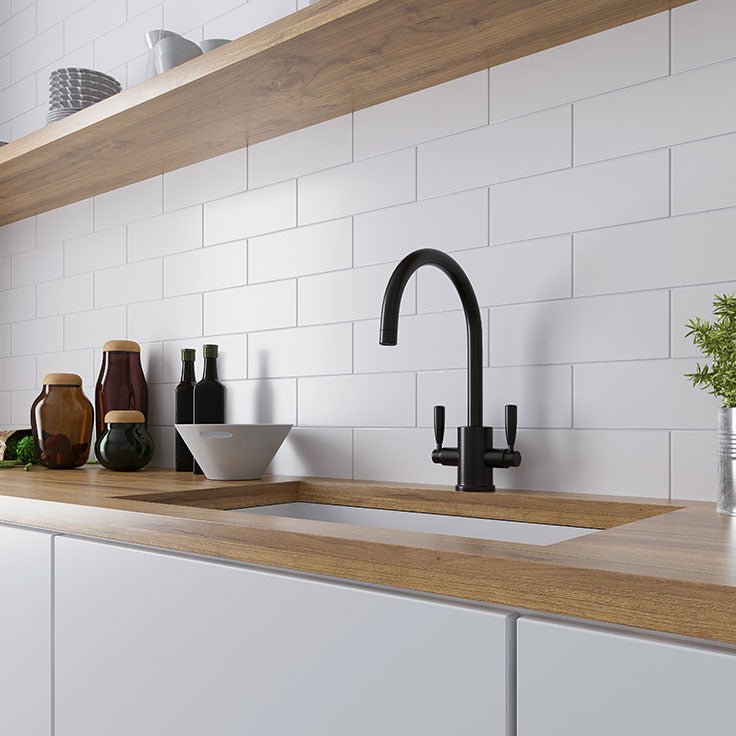 Plain White Ceramic Subway Tile is the Easiest to Paint