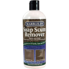 MarbleLife Soap Scum Remover is a stone safe product that is both sensitive and effective on marble tile surfaces.