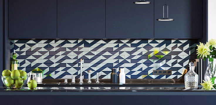 Upgrade from Plain Subway Tiles with these Art Deco Inspired Patterned Tiles
