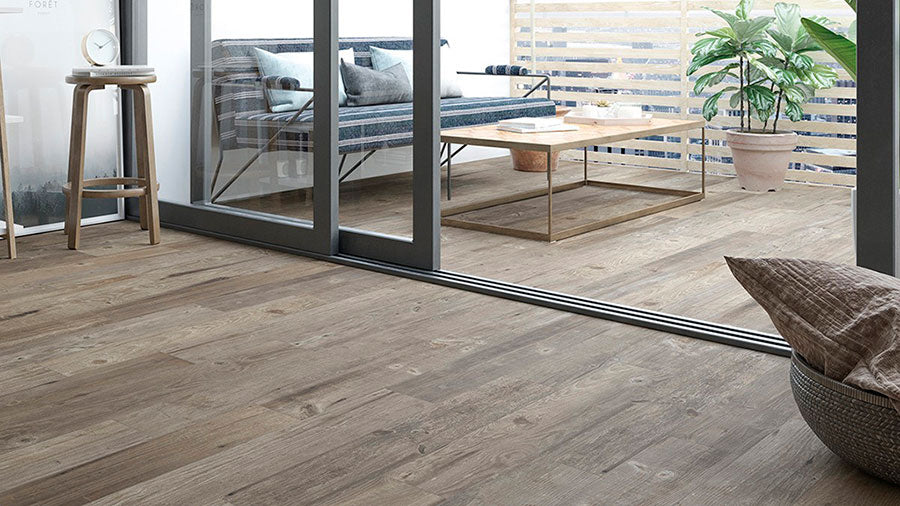 Vancouver Natural is a water-resistant wood-look porcelain floor tile that is a worry-free and appealing option for outdoor living spaces