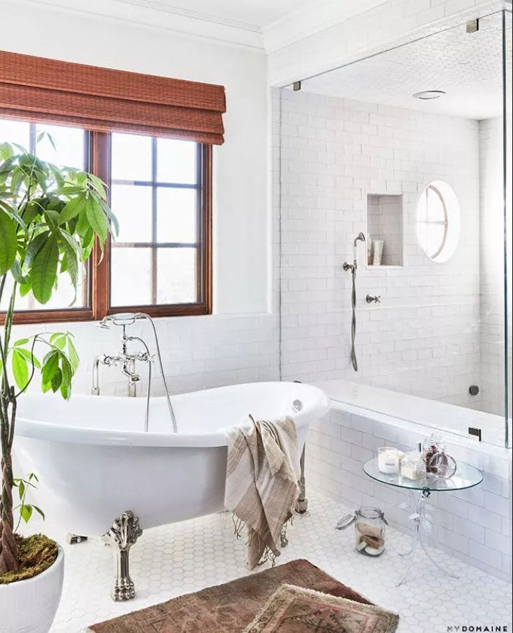 Lauren Conrad's Bathroom is a great example of how to pair different tiles together