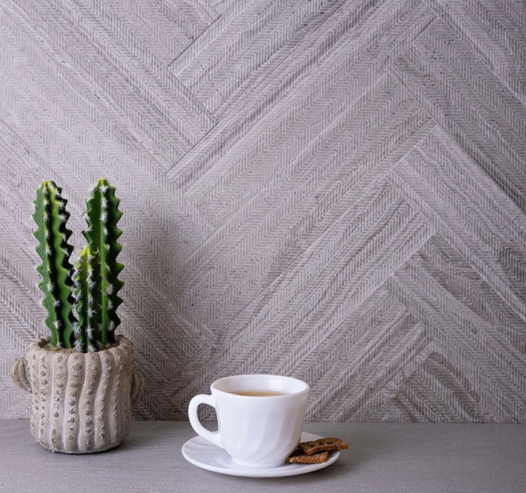 Etched Marble Subway Tile adds Texture to a Traditional Home Design