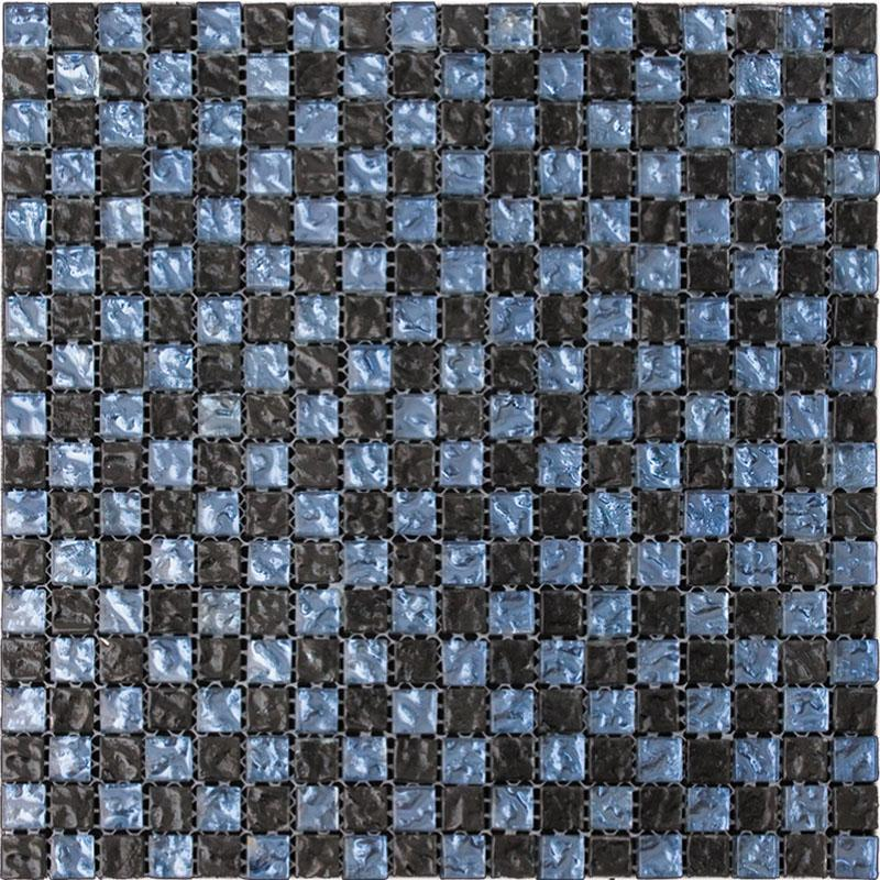 Shimmer Black Glass Mosaic Tile for Indoor, Outdoor, Pools and More