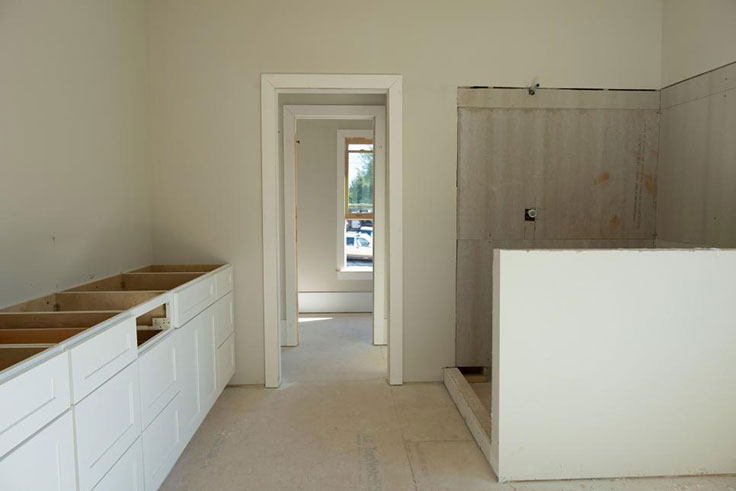 BEFORE Bathroom - a blank space for a dynamic Master Bathroom Makeover