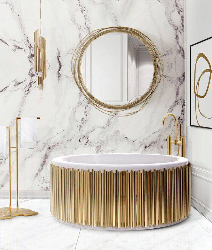 Modern Glam Gold and Marble Bathrooms are Trending for 2021 and Beyond