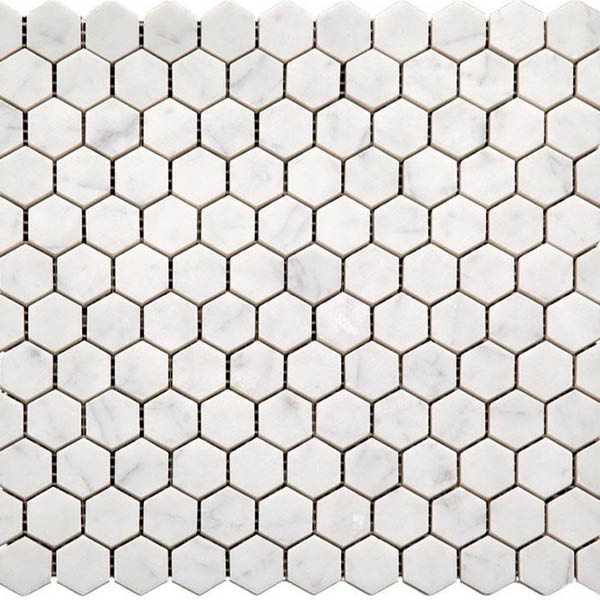 White Marble Hexagon Tiles for Floors and Walls