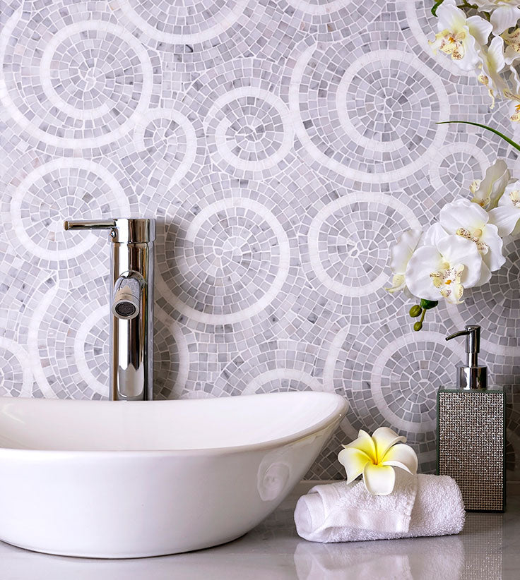Micro Mosaic Tiles are Trending for 2021 Bathroom Design