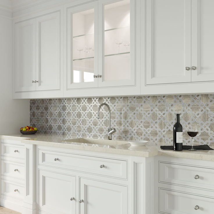 Traditional Home Design with Elegant Decorative Tiles for Kitchens and Bathrooms