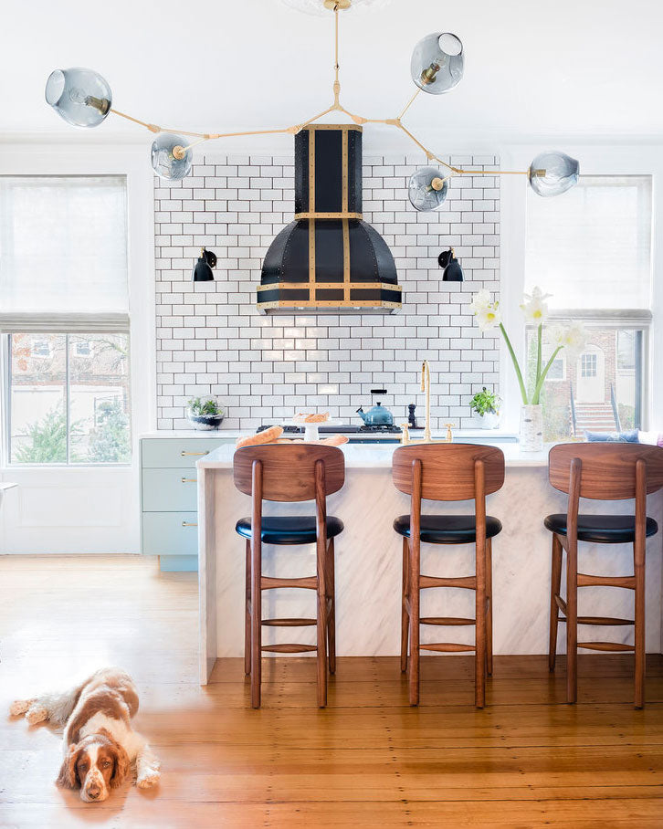 This gorgeous kitchen with contrasting grout by Cecilia Casagrande Interiors not only caught our eye as one of the top 2021 Kitchen Trends