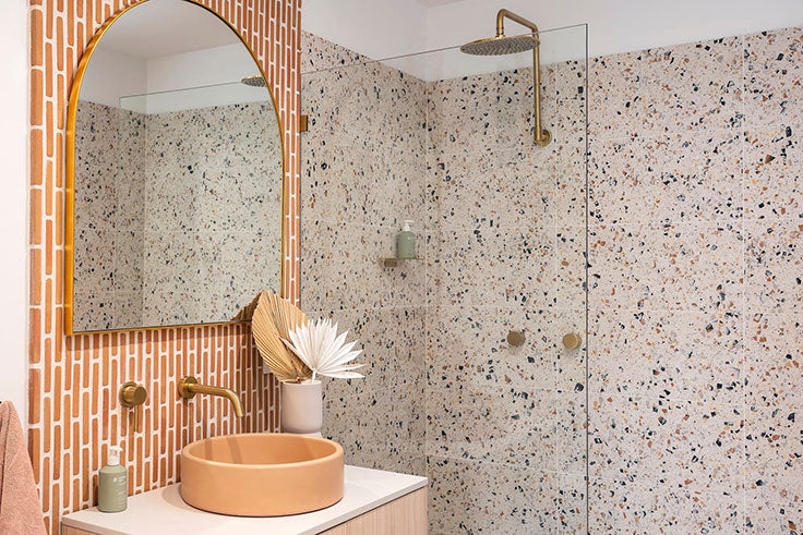 Top Bathroom Trends for 2021 Include Terrazzo Tile for Walls and Floors